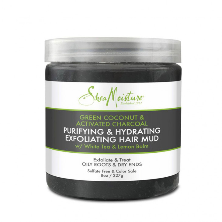 Shea Moisture Green Coconut & Activated Charcoal Exfoliating Hair Mud