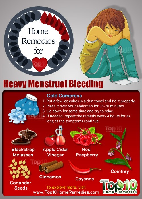 home remedies for heavy menstrual bleeding